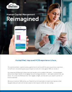Thumbnail_OnePoint HCM Reimagined User Experience