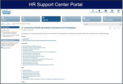 COVID19 resource portal home page