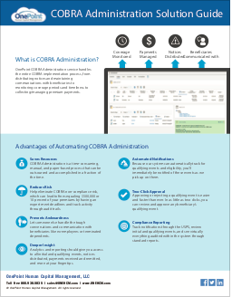 OnePoint COBRA Administration Solution Guide-thumbnail