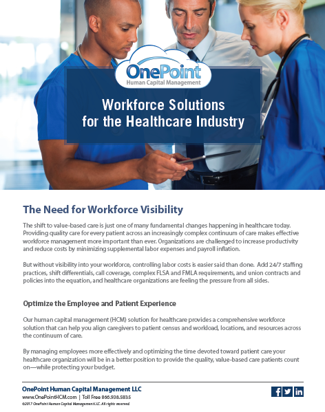 OnePoint_Healthcare_Solutions_Guide