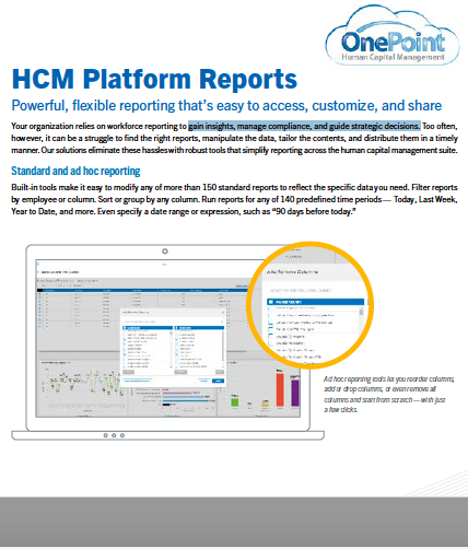 OnePoint Reports and Data Visualization Overview_Thumbnail