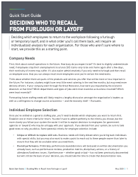 Quick start guide to furloughs and layoffs thumbnail