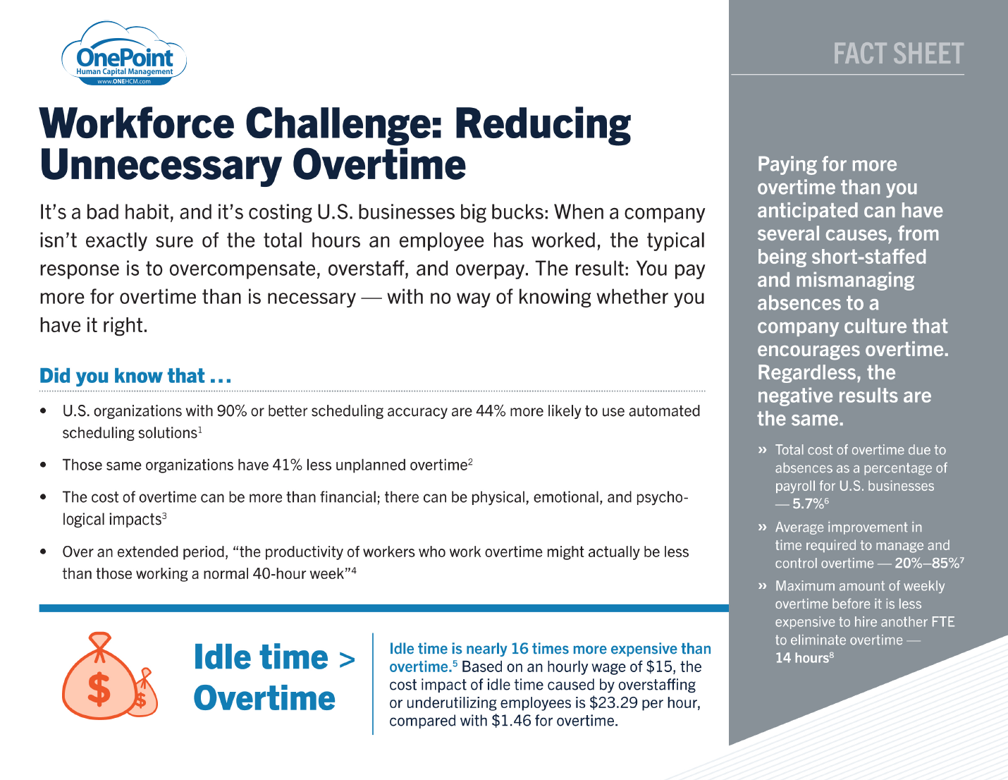Reducing Uneccessary Overtime Fact Sheet Thumbnail